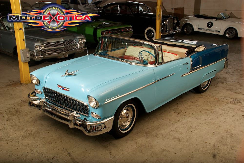 Find Of The Day: Two-Tone Blue 1955 Chevrolet Bel Air Convertible