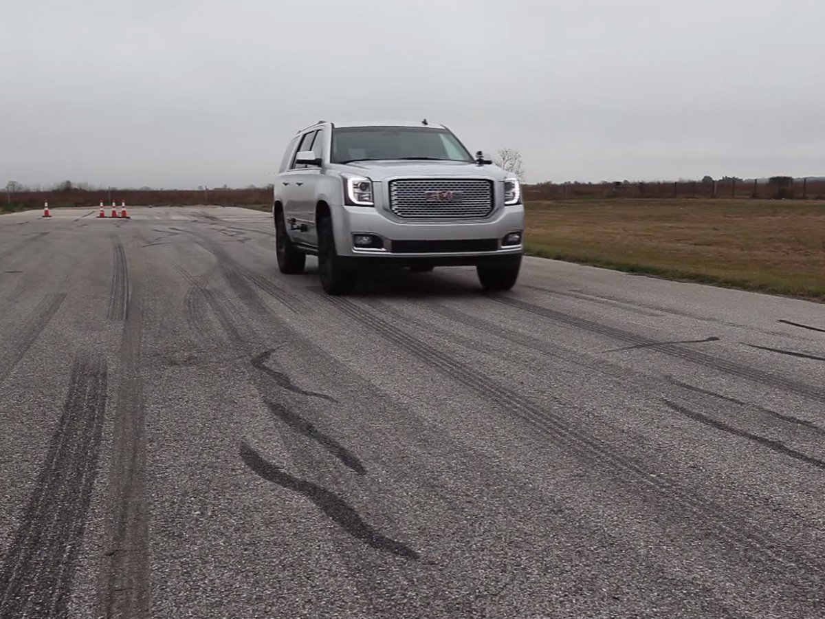 Video: Hennessey-Supercharged Yukon Denali Runs 0-60 In 4.5 Seconds
