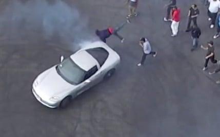 Video: Compton Sideshow Spectator Struck By Corvette