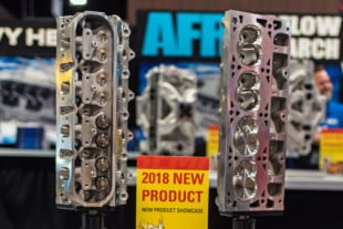 SEMA 2018: Mongoose 12-Degree 260cc LS3 Heads From Air Flow Research